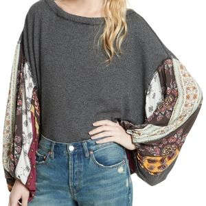 FREE PEOPLE We the Free Blossom Thermal Top SMALL